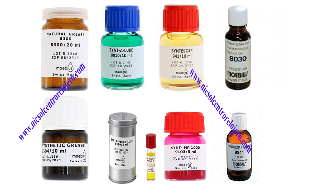 Oils $ Greases for watches